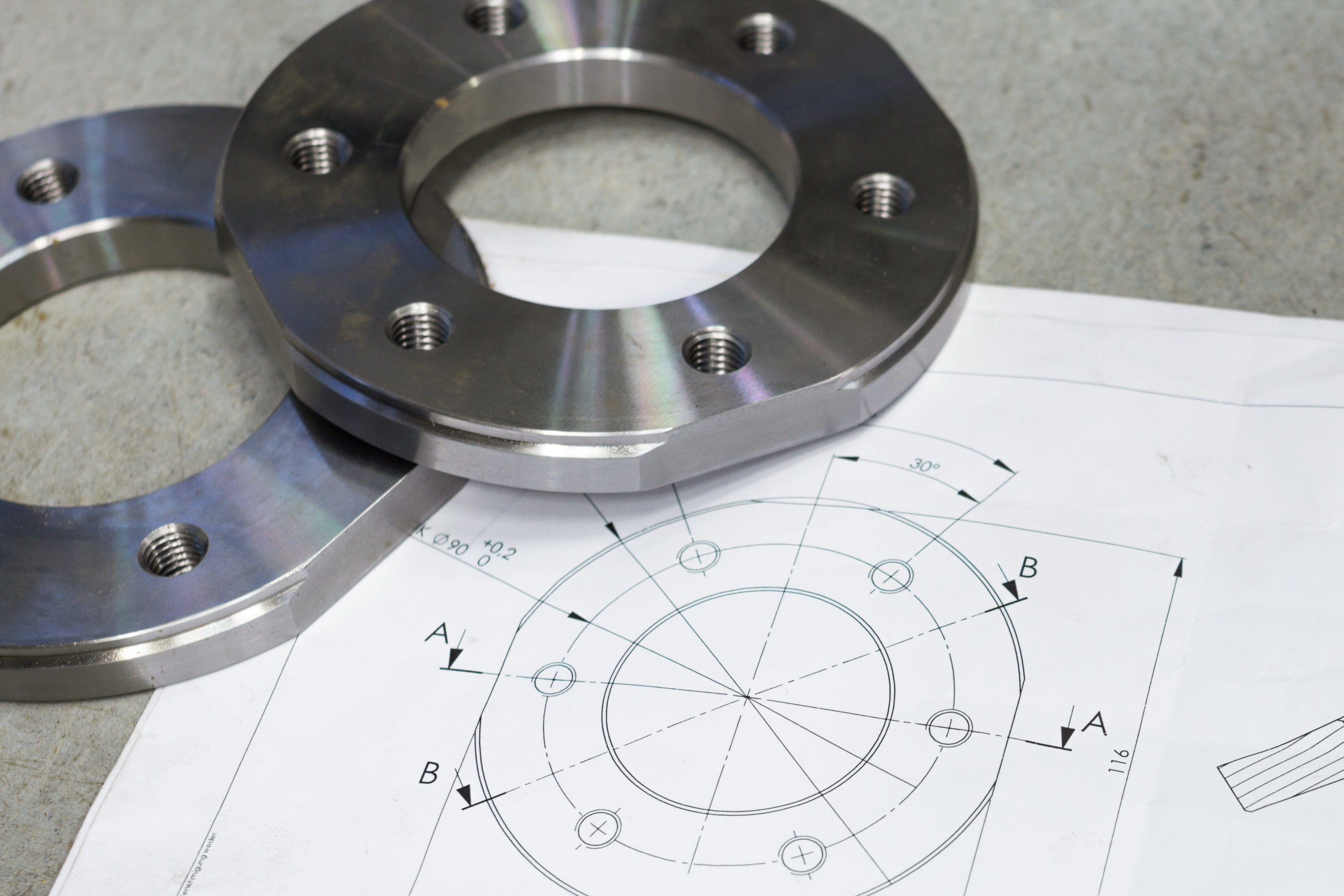 measuring metal component